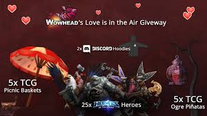 2017 love is in the air giveaway and warcraft cookbooks stream