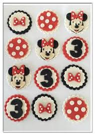 Red Minnie Mouse Cake Decorations Set Of 12 Dinosaur Cupcake Toppers By Sugaryland On Etsy Fondant