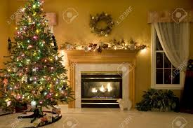 Livingroom Fireplace by Christmas Living Room Stock Photo Picture And Royalty Free Image