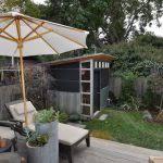 corten steel planters patio modern with portland oregon roof deck