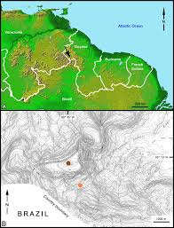 Marin Map A Map Of The Guiana Shield Dark Arrow Indicates Location Of