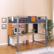 good looking metal full loft bed with desk solid black x frame and