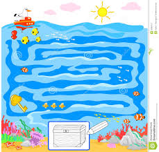 kids game sea maze royalty free stock photography image 25685737