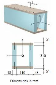 box beam a wooden box beam is fabricated from four boards chegg com
