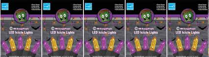 5 pack deal m6 orange purple color led icicle halloween lights