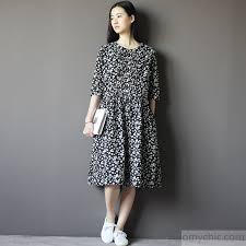 summer dresses plus size black summer dress cotton floral sundress half sleeve1 1 jpg