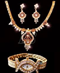 ladies necklace watch images Buy buy one necklace set get a ladies watch free online best jpg