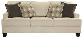 sofa with track arms and t style seat cushions by benchcraft