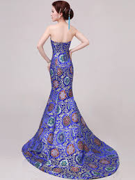 Wedding Evening Dresses Fishtail Cheongsam Qipao Chinese Wedding Evening Dress