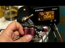 how to tune or set up of a tattoo machine for lining or shading