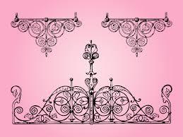 antique metal decorations vector graphics freevector