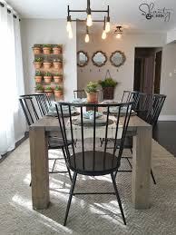 farm table dining room diy modern farmhouse table as seen on hgtv open concept shanty 2