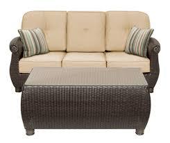 Wicker Rocker Patio Furniture - breckenridge tan 4 pc patio furniture set swivel rockers sofa