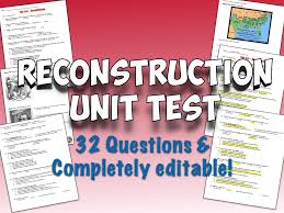 reconstruction unit test and answer key multiple choice social