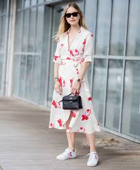 chic dress chic dress and sneaker pairings that will pretty much turn you