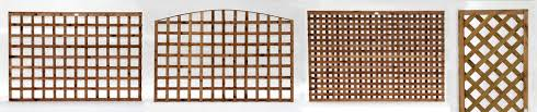 different types of trellis and lattice panels somerlap