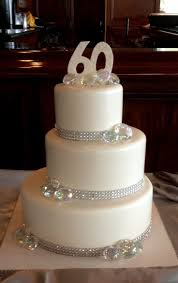 60th wedding anniversary ideas 60th wedding anniversary cake with a bling 60th