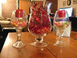decorations diy simple centerpiece candy in glass and love