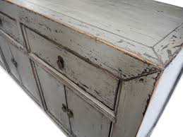 reclaimed wood gray sideboard cabinet hand painted custom