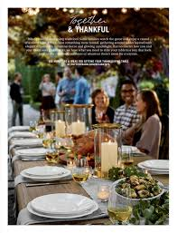 pottery barn thanksgiving pottery barn early holiday 2016 page 18 19