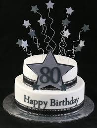 exploding stars silver blue cake 80th birthday present cakepins