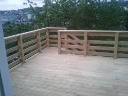 garde corps jardin terrasse chêne sur poteau poutre dmeba charpentier constructeur