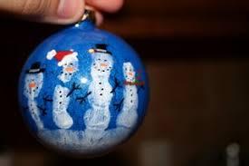 unbored handprint snowmen ornament ols
