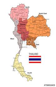 thailand vector map thailand region and province vector map stock image and royalty