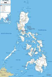 map of the road detailed clear large road map of philippines ezilon maps