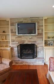 gas fireplace designs with stone home design ideas