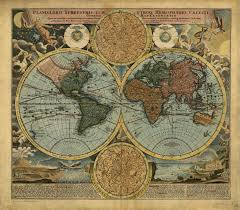 Vintage World Map Canvas by Canvas World Map Print Antique World Map 1712 Vintage