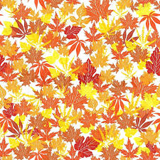 fall leaves garland decorations abstract autumn background