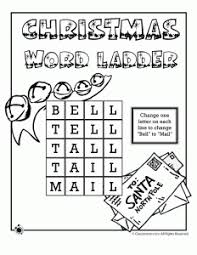 christmas worksheets word ladders
