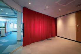 Empa Curtains by Curtain System Creates Soundproofed Office Spaces In Open Floor Plans