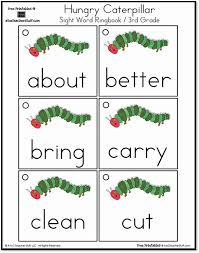 hungry caterpillar grade sight words ring book