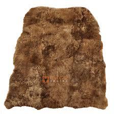 öko lammfell teppich goldbraun gefärbt 200 x 160 cm fell teppich