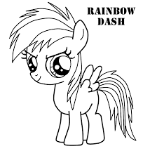 rainbow dash coloring page coloring pages online