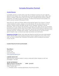 Sample Resume For Canada Sample Resume For Canada Application Augustais
