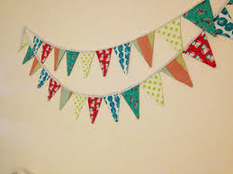 diy fabric pennant banner u2013 handmade and homegrown by mrs g