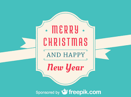 merry and and happy new year vector free