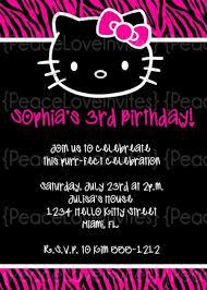 hello kitty invitations the best way to begin your kid u0027s birthday