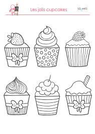 jeux de cuisine de cupcake coloriages les délicieux cupcakes momes