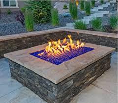 Fire Pit Glass Rocks by Amazon Com Fireglass 10 Pound Reflective Fire Glass With