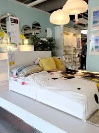 malm bed frame high w 2 storage boxes white lur 246 y malm bed frame high w 4 storage boxes with slatted bed base luroy