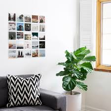 7 square print display hacks to try at home artifact uprising bare walls be gone tape up a 5 by 5 photo grid that tells your best stories plus your walls will thank you for leaving them unmarked