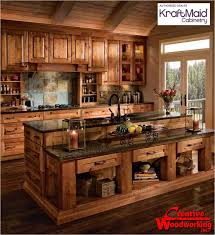 Log Cabin Kitchen Cabinets Kitchen Idea - Cabin kitchen cabinets