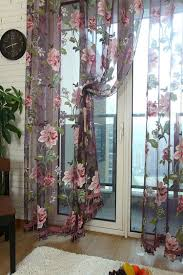 quality classic flower design voile curtain finished product