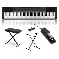 On Stage Keyboard Bench Casio Cdp 130 Digital Piano With Stand Sustain Pedal And Deluxe