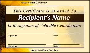 word certificate template