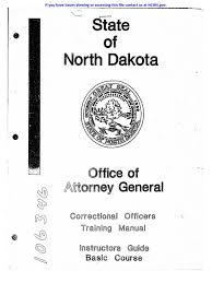 north dakota co training manual prison crime u0026 justice